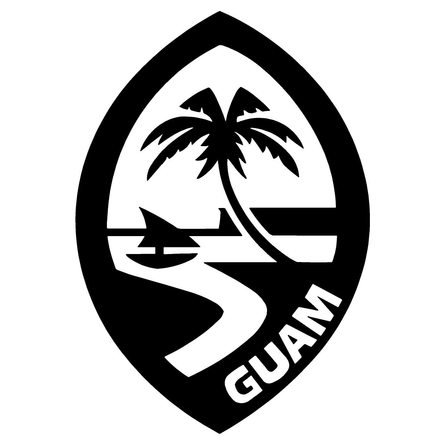 Amazon com guam logo sticker decal black 5 5 automotive