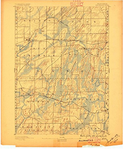 (1890 Sun Prairie, WI | USGS Historical Topographic Map |Fine Art Cartography Reproduction Print)