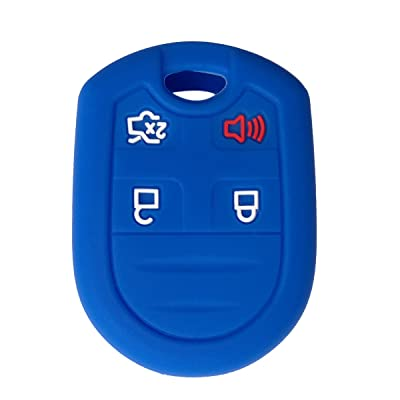Coolbestda Silicone 4 Buttons Key Fob Remote Cover Case Keyless Entry Protector Jacket Holder for Ford F150 F-150 F250 F350 Mustang Fusion Explorer Taurus Expedition Lincoln MKS MKX MKZ Navigator: Automotive