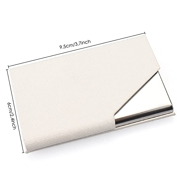 UBAYMAX Caja de la tarjeta de visita, tarjetas de identificacion del titular de la tarjeta de crédito cartera Bolsillo organizador, tarjeta regalo para ...