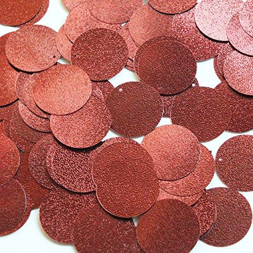 Round Sequin 24mm Bronze Brown Metallic Embossed Texture Loose Couture Paillettes Dark Bronze Couture Art