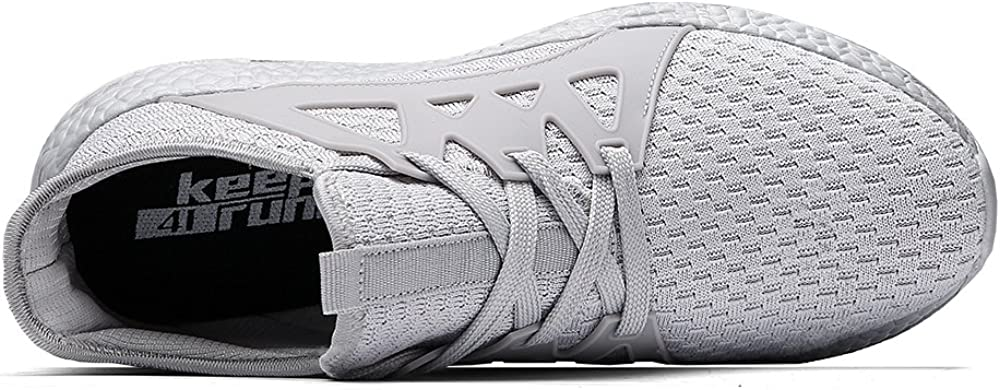 Go Tour Mens Sneakers Mesh Ultra Lightweight Breathable Athletic Running Walking Gym Shoes White