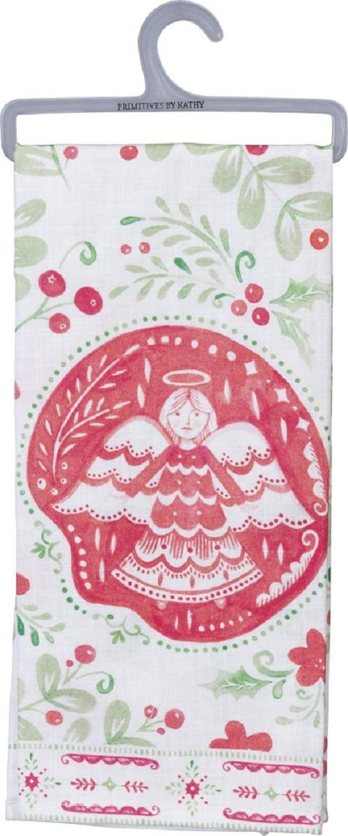 Primitives by Kathy Farmhouse Style Dish Towel, Angel