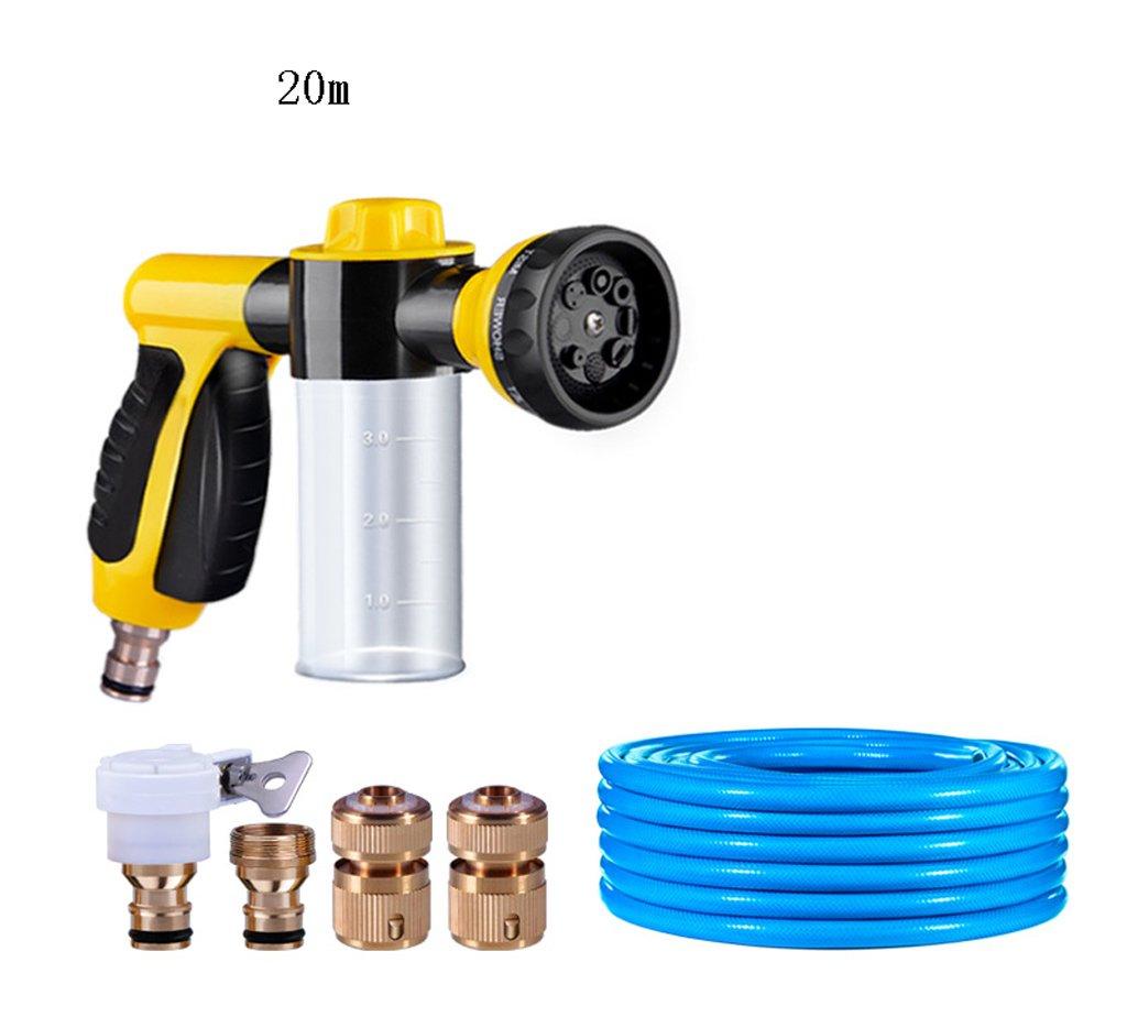 SHI XIANG SHOP Schaum Hochdruck Waschen Wasser Pistole Gelb Multi-Länge Optional A+ ( größe : 20 meters )