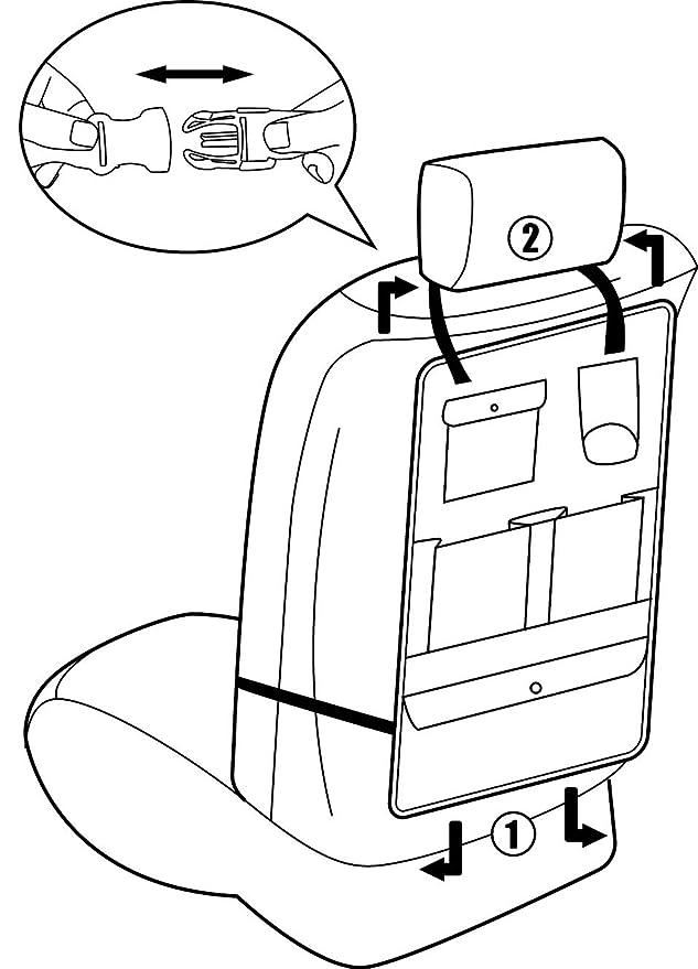 Amazon Com Cartman Standard Car Seat Back Organizer Multi Pocket