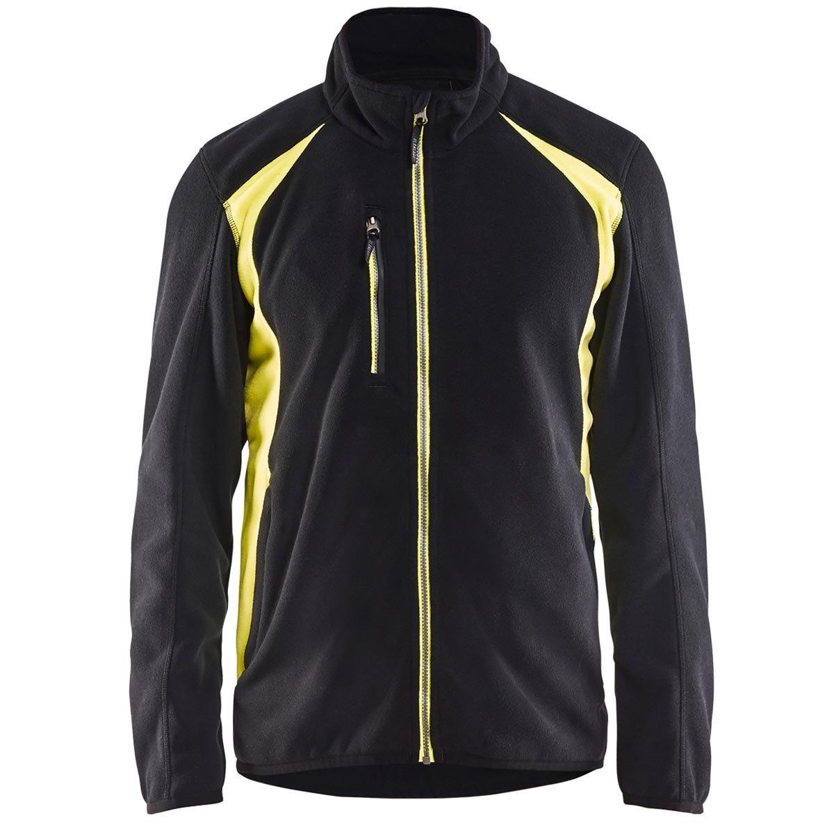 Blaklader Workwear Fleece Jacket Black//Yellow S