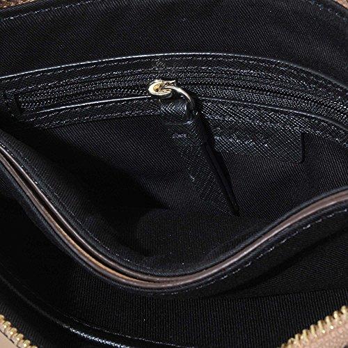Park Top Beige Leather Saffiano Bag Zip Bryant Black Cross body Dkny TCqOXw5n