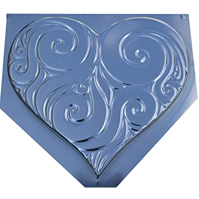 Decorative Heart Stepping Stone for Garden Mold Concrete Mould ABS Plastic #S31 : Garden & Outdoor