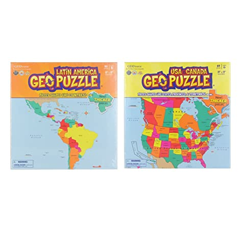 Amazon.com: Educational Geography Jigsaw Puzzle U.S.A ...