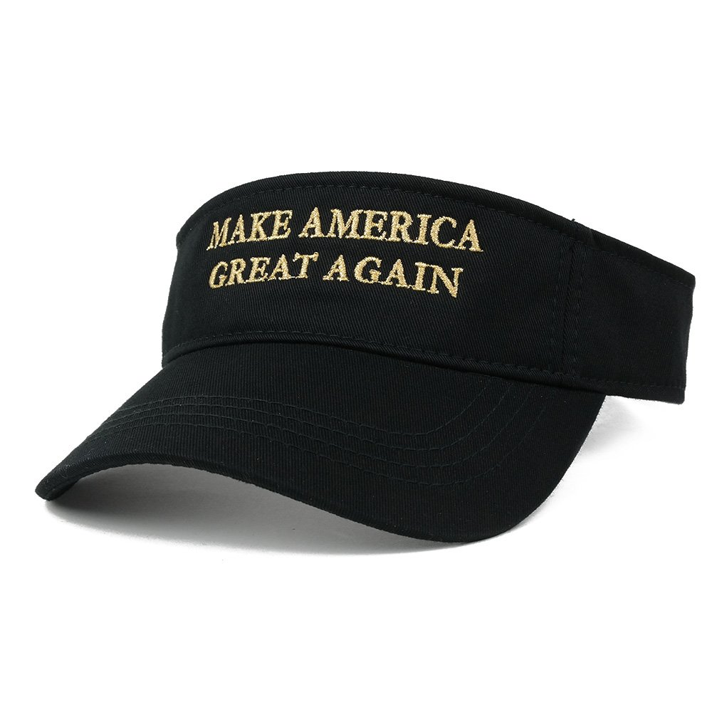 Armycrew Donald Trump Visor Quality Embroidered 100/% Cotton Visor Cap White 3001-trumpvisor-wht Make America Great Again Quality Embroidered 100/% Cotton Make America Great Again