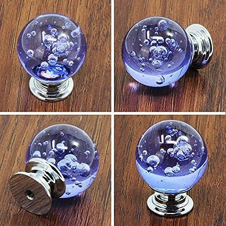 FBSHOP 10 piezas de bolas de cristal de burbujas pomo decorativo caj/ón tirador para muebles armario caj/ón armario armario puerta armario cocina y beb/é ni/ños muebles decoraci/ón TM