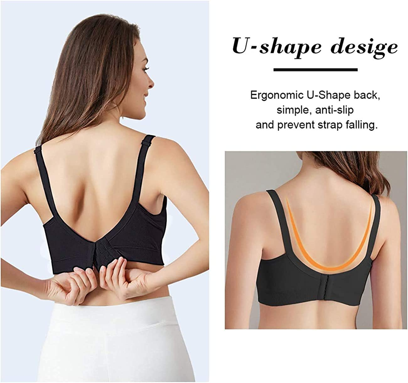 Jolies 4Pack Womens Seamless Clip Down Maternity and Nursing Bra Push Up Sleeping Bralette for Breastfeeding Underwear