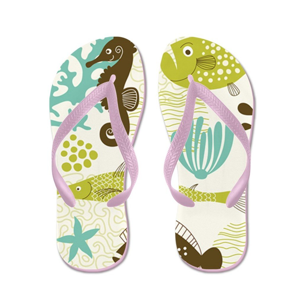 Lplpol Sea Life Flip Flops for Kids and Adult Unisex Beach Sandals Pool Shoes Party Slippers