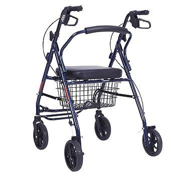 ChenDZ Subiendo al Piso para Comprar un Carrito de Comida Carrito pequeño Carrito de Equipaje Remolque Plegable Carro de Carga portátil Azul portátil: ...