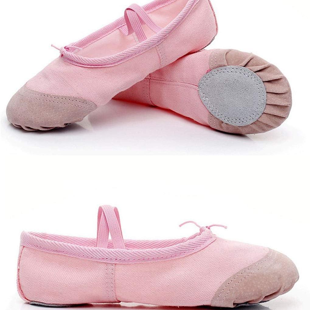 LEVEL GREAT Bambini Danza Classica Pratica Scarpe Elasitc No Scarpa Balletto Ballo Cravatta Pantofole per Adulti Pointe Ginnastica Danza Scarpe