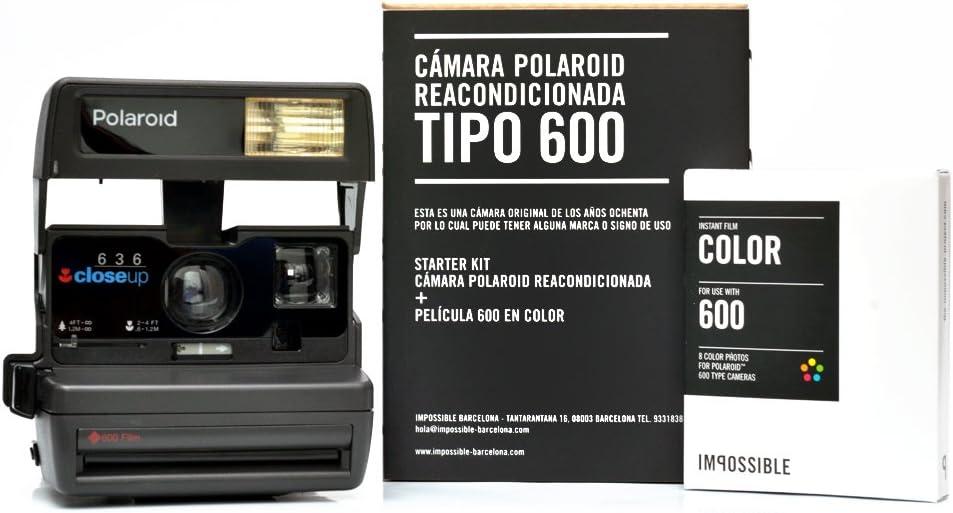 Impossible - Cámara Polaroid 600 80S + 1 Película: Amazon.es ...