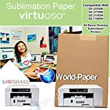 Sublimation Heat transfer paper for mugs 100-PCS 8.5 x 11 , For Virtuoso SG800,SG400 and Epson