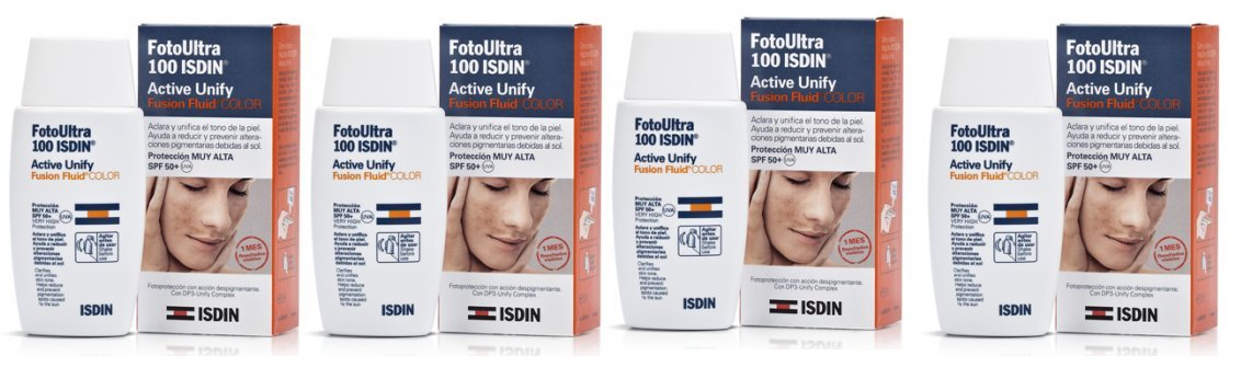 Amazon.com: 4 x ISDIN FOTOULTRA FUSION FLUID COLOR SPF 100 + 50 ml ACTIVE UNIFY TOTAL 200ml MINESKIN TREATMENT: Beauty
