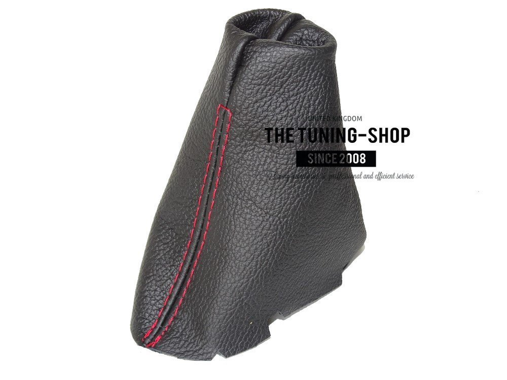 For Mercedes CLK W209 2002-09 Automatic Shift Boot Black Leather Red Stitching
