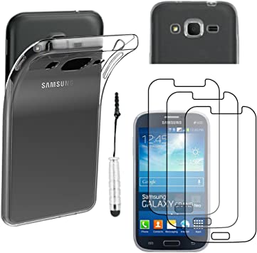 ebestStar - Coque Compatible avec Samsung Grand Plus Galaxy GT-i9060I, Grand Lite Etui Housse Silicone Gel Ultra Fine Invisible Mini Stylet 3 Films, ...