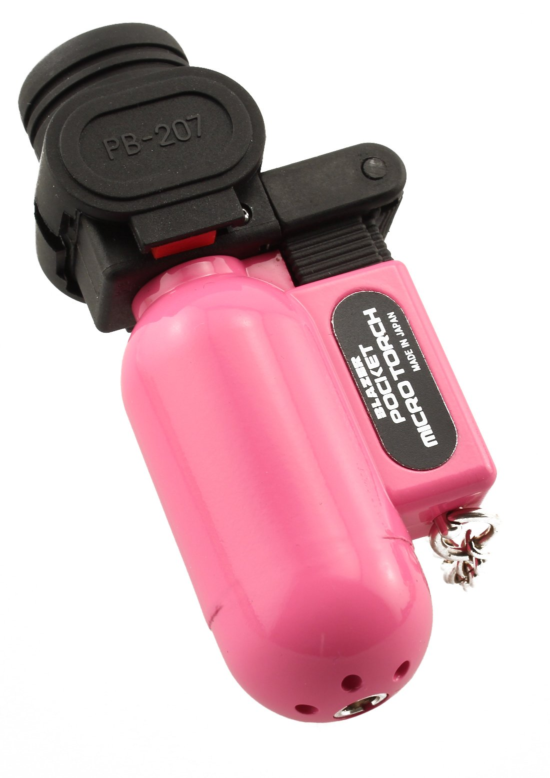 Blazer PB207CR The Torch Butane Refillable Lighter, Pink