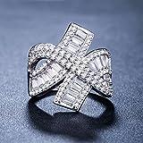 925 Silver Jewelry Infinity Round Cut White Sapphire Women Wedding Ring Size 7-9#by pimchanok shop (9)