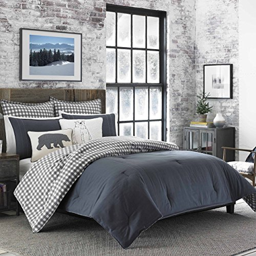 Eddie Bauer Kingston Comforter Set, King, Charcoal - Eddie Bauer Comforter