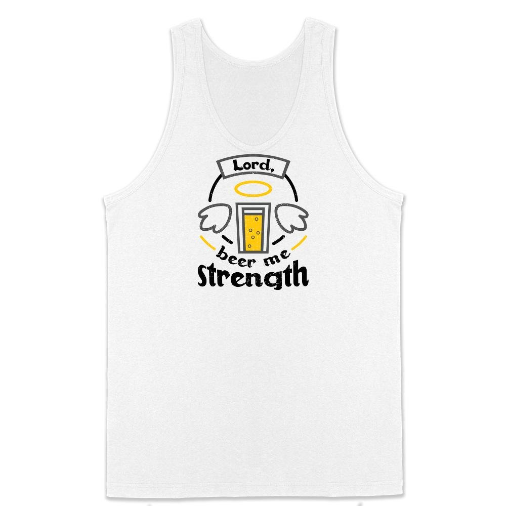 Lord Beer Me Strength Office Funny Mens Tank Top