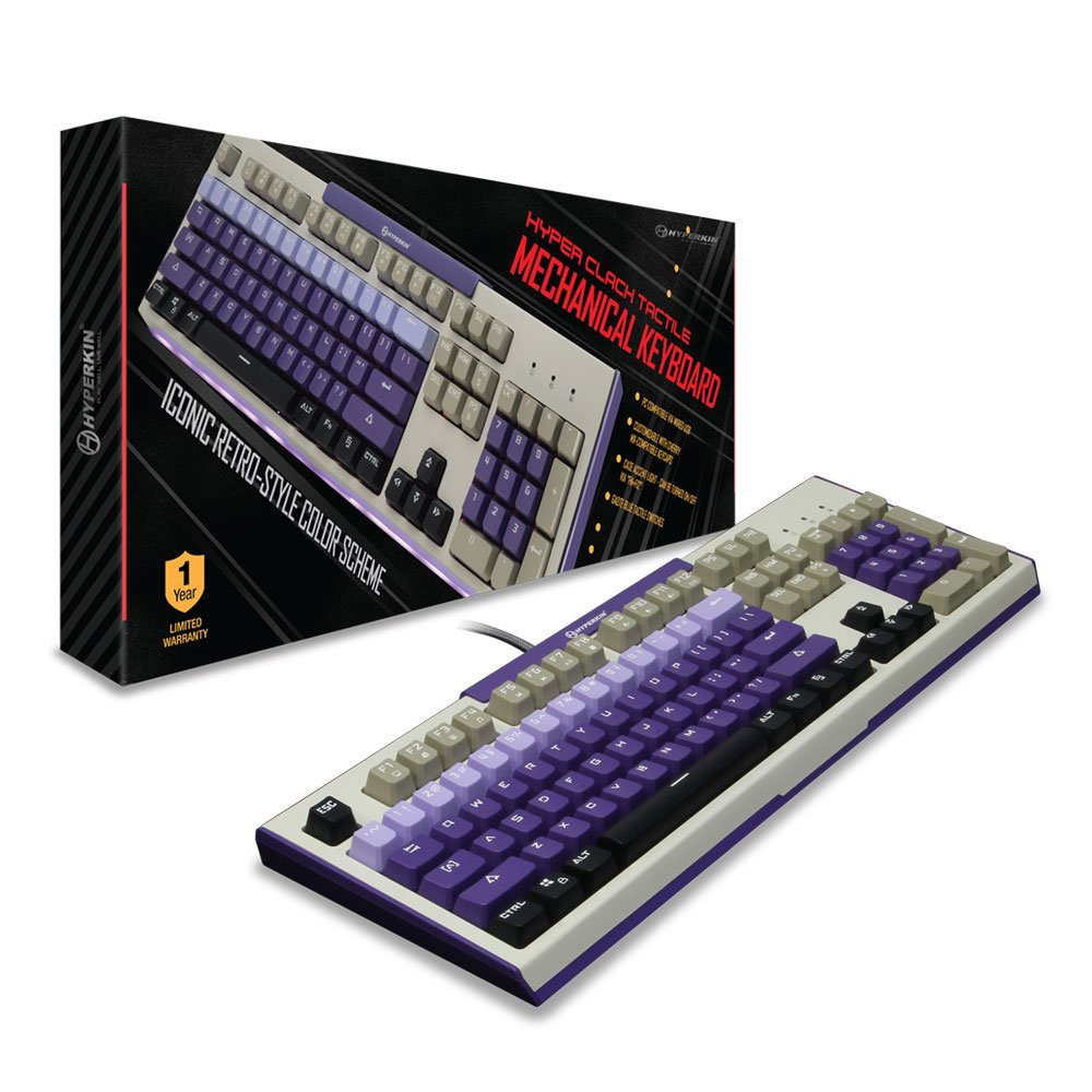 Hyperkin Hyper Clack Tactile Mechanical Keyboard for PC/ Mac