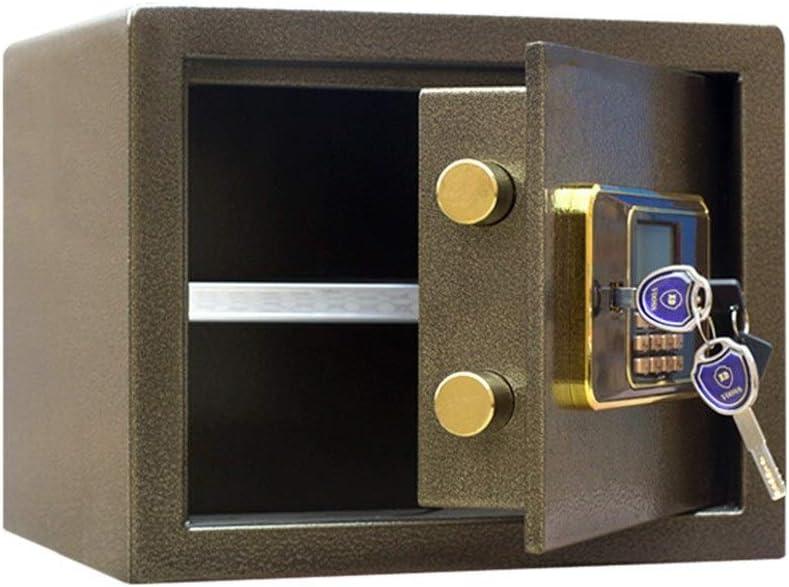 セキュリティデジタル金庫 電子パスワード金庫30センチメートルハイオールスチール盗難防止ミニ金庫ホームウォールを入力することができます ホームオフィスの現金お金の貴重品 (色 : ブロンズ, サイズ : 30x30x30cm)