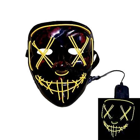 Máscara de luz LED Personalizada Hecha a Mano Fiesta de Disfraces ...
