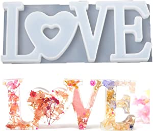 Resin Casting Mold Love Letters Epoxy Silicone Moulds Craft DIY Decor Jewelry Accessories (B)