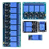 HESAI DC 5V Relay Module Kit for Arduino Raspberry Pi DSP AVR PIC ARM (5 items)