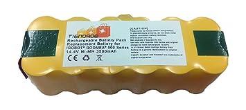 Tiendade Bateria para aspirador Roomba Series 500, 600, 700, 800 3500 mAh,