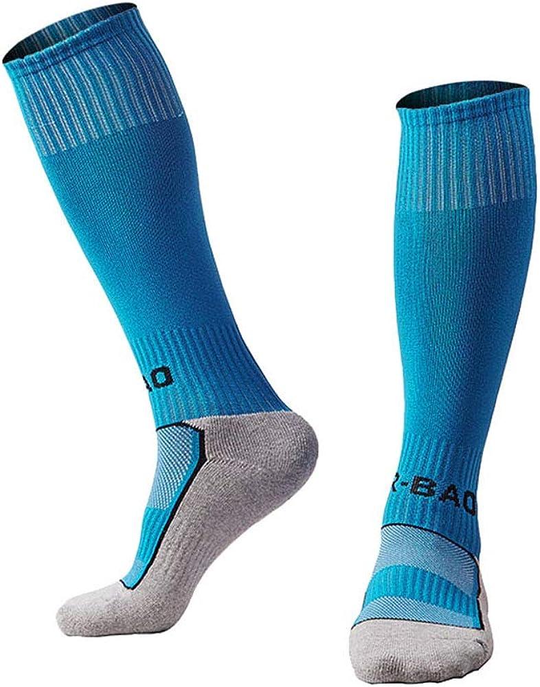 Youth Soccer Socks Boys Girls Knee High Cotton Athletic Compression Socks Football Sport Long Socks