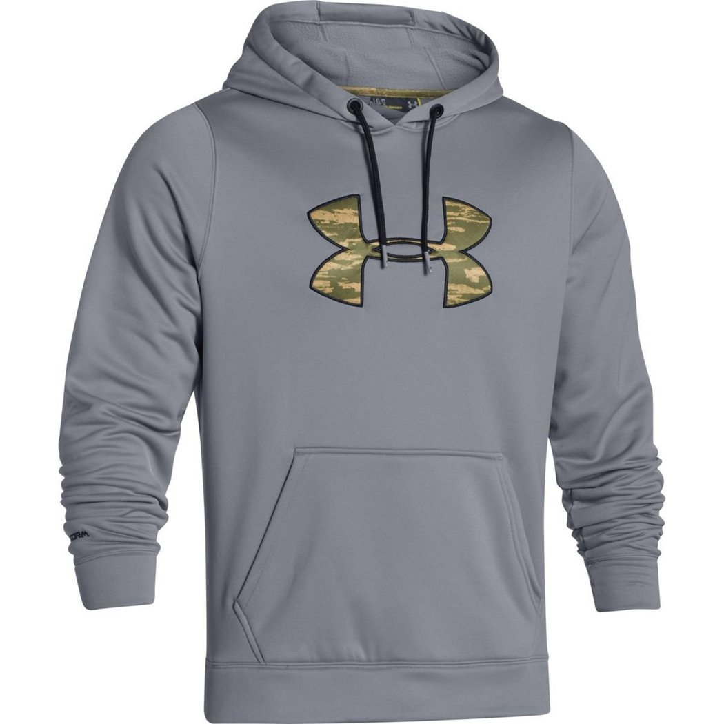 Under Armour Rival Hoodie - Men's Steel / Black XXL by Under Armour (Image #1)