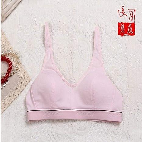 JZsoftb Mujeres 100% algodón Busto Push Up Sujetadores Deportivos Correr Yoga Crop Top Ropa Interior Sujetador 70 75 80 85 Tamaño (32 34 36 38): Amazon.es: Deportes y aire libre