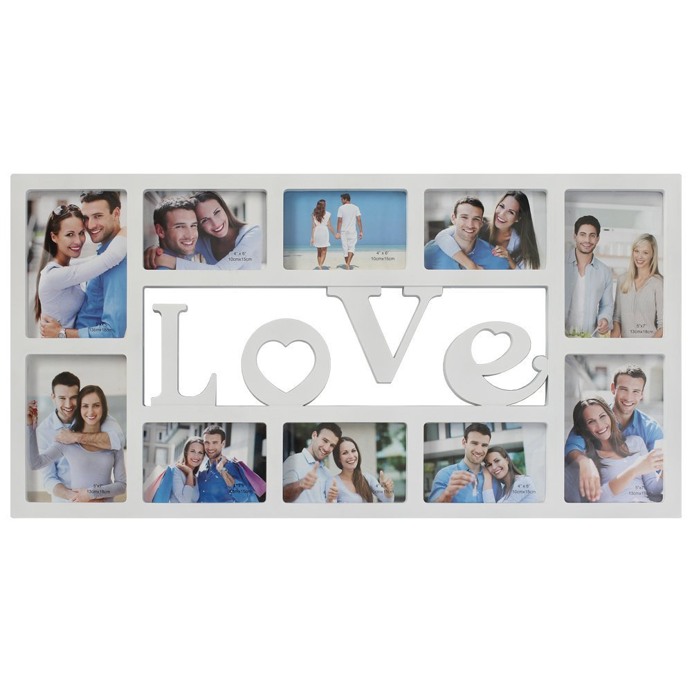 Amazon.com: Collage Picture Frame Plastic Love Wall Hanging Photo ...