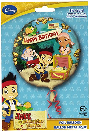(Anagram International HX Jake Neverland Pirates Happy Birthday Party Balloons, Multicolor)
