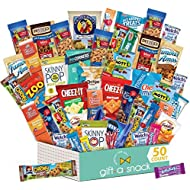 Variety Snack Care Package (50 Count) Gift Box for College Student - Cookies, Chips, Candies, Bars, Crackers - Birthday Candy Basket for Dad, Men, Women, Boys, Girls, Kids, Adults - Prime Delivery
