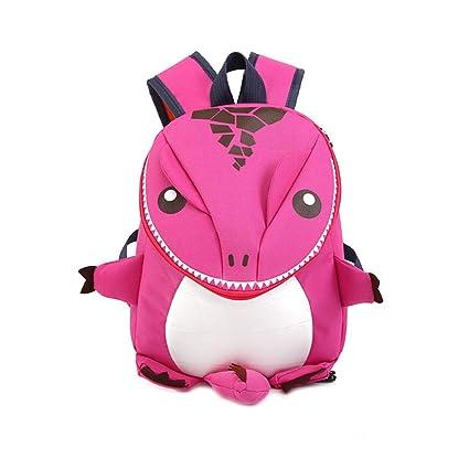 Amazon.com   Baby Kid 3D Cartoon Dinosaur Children School Bag Cute Toddler  Cartoon Animal Backpack Gift for 1-5 Y(Pink)   Kids  Backpacks ae7e9ac41e