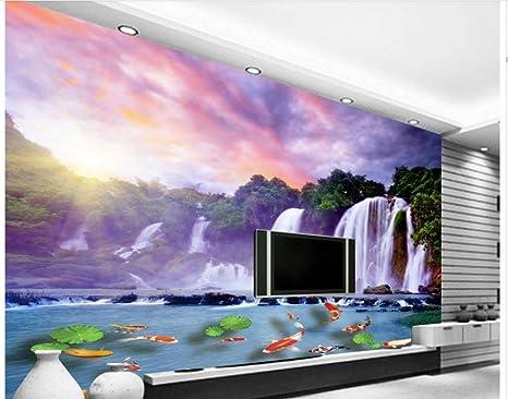 Decorazioni Per Casa Montagna : 250cmx175cm casa decorazione 3d ruscello di montagna cascata carp