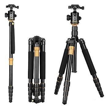 ZHIJIA Trípode de cámara de SLR, trípode portátil de la aleación del Aluminio-magnesio con un Bolso, Altura de Funcionamiento los 38-158cm: Amazon.es: ...