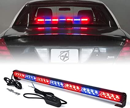 Led Warning Lights 31 Inch Police Emergency Strobe Light Bar 13 Flash Patterns 18 Led Traffic Advisor Vehicle Truck Cop Strobe Warning Flashing Led Safety Light with Cigar Lighter 31. 5 In, Red//Blue