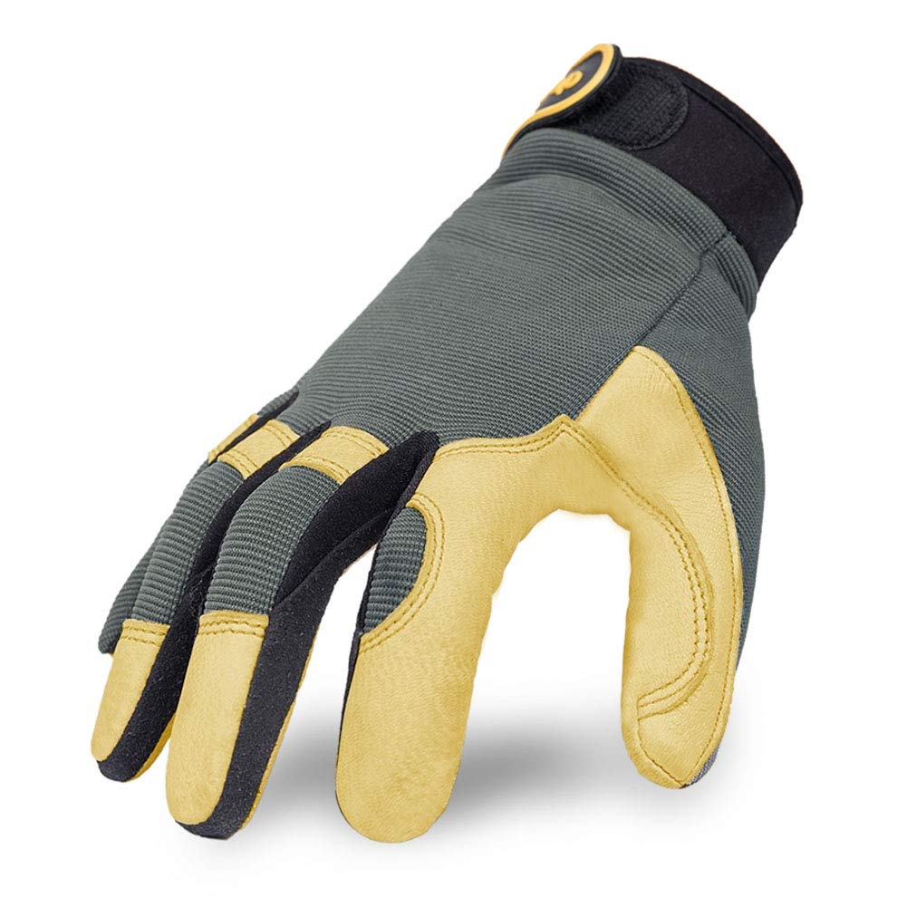 Intra-FIT General Work Gloves, Genuine Deerskin Construction Gloves,Soft, Improved Dexterity, Durable, Excellent for Labor protection, Mechanical, Construction, Automobile, Agriculture
