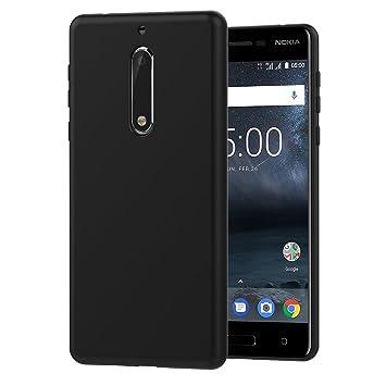 ivoler Funda Carcasa Gel Negro para Nokia 5 2017, Ultra Fina 0,33mm, Silicona TPU de Alta Resistencia y Flexibilidad