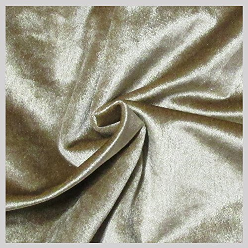 - 2 yards Velvet Fabric 58 Inches Wide Sold by the yard for upholstery & drapery Champagne