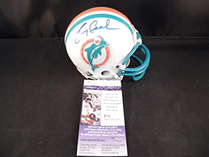 6394a964d9c Larry Csonka Autographed Signed Miami Dolphins Mini Helmet Memorabilia -  JSA Authentic