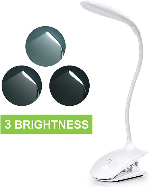 16LED 5W Leselampe Dimmbare Schreibtischlampe Nachttischlampe Touch Tischleuchte