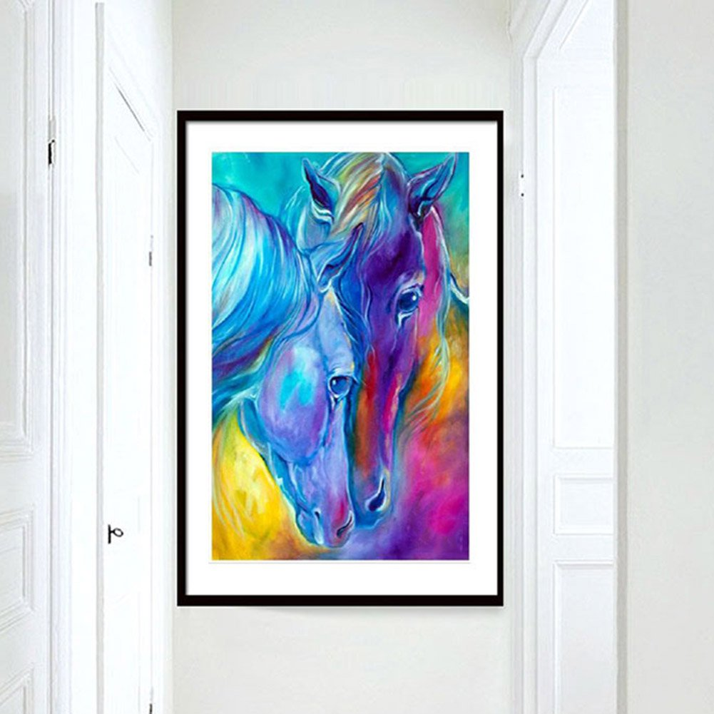 Saniswink Fashion Horse Crafts 5D Diamond Embroidery Painting Art DIY Room Wall Decoration